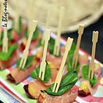 recette Pics aux pêches et jambon de Parme