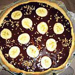 recette tarte banane chocolat