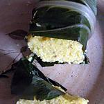 recette Baluchon de polenta à la vapeur