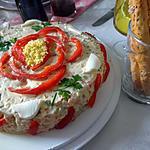 recette Rassols  ( Salade russe au saumon fumé et thon )