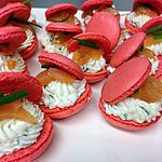 recette Macarons salés - chèvre frais ciboulette/saumon