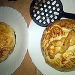 recette feuilletée au camembert  farci au oignon rouge et lardons