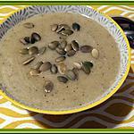 recette Velouté de courgette au curry et mozzarella