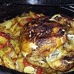 recette Poulet rôti a l'huile d'argan aux petits légumes