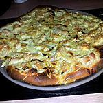 recette Pizza au poulet-ravioles et sauce béarnaise