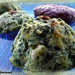 recette Flans à la brousse & aux épinards
