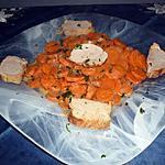recette Filet mignon au vin blanc et ses petites carottes persillées