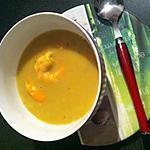 """recette Crème de chou-fleur épicée aux crevettes """"thermomix"""""""