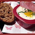 recette Oeuf cocotte à la crème de Roquefort