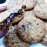 recette Cookies coeur coulant au chocolat.