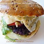 recette Hamburger multi céréales steak haché et bacon