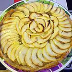 recette Tarte pommes et bananes  au miel façon Lauranou