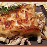 recette Gratin de macaronis au thon et curry