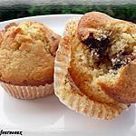 recette Muffins aux bananes séchées & au chocolat blanc