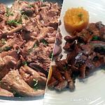 recette Pleurotes sautées / purée Pdt-courge butternut