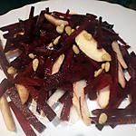recette BETTERAVE ROUGE CRUE EN SALADE