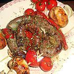 recette Brasse de saucisse de canard en brochette