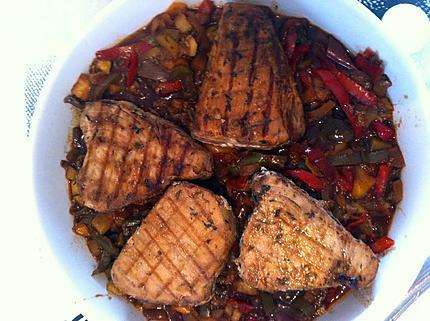 Recette de steaks de thon la proven ale - Recette steak de thon grille ...