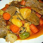 recette Langue de veau en sauce avec légumes