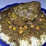recette Tajine d'agneau aux pois chiche et aux oignons