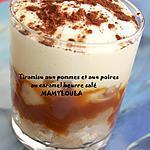 recette Tiramisu aux pommes/poires et au caramel beurre salé