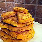 recette Pancakes de butternut, chèvre & miel