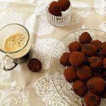 recette Truffes aux 2 chocolats et caramel