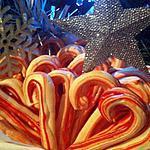 """recette Meringues """"sucre d'orge"""" canne de Noël à la fraise"""