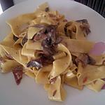 recette Tagliatelles aux champignons et saumon