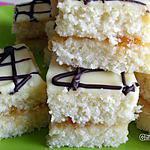 recette Carrés Noix de Coco-Ananas-Chocolat Blanc