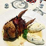 recette Caille farcie bardée et quenelles de purée de panais