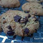recette ** Croustillants , fondants a la  noix de coco et pepites de chocolat : Mes Cookies**