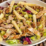 recette Salade de dinde aux pommes, céleri et noix