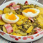 recette Salade de pommes de terre aux brocolis et aux oeufs