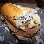 recette Sandwich banane/bacon fumé
