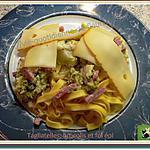 recette Tagliatelles, brocolis et fol épi