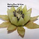 recette Kiwi en fleur de lotus