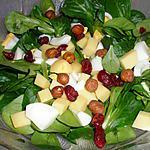 recette Salade composée de mâche