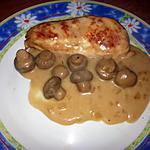 recette Blanc de poulet à la crème aux champignons.
