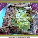recette Galette pommes de terre, bacon, oignon et crème