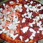 """recette PIZZA DUO """"SAUMON CREVETTES CRABE"""" CHORIZO TOMATES"""