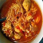 """recette Soupe tomate et poulet épicée """"konjac ou avoines"""""""