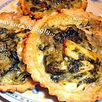 recette mini quiches aux épinard -poulet