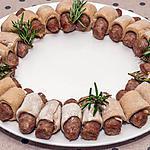 recette Couronne de Noël aux saucisses