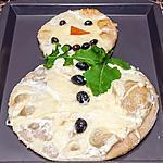 recette Pizza bonhomme de neige
