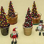 recette Sapins de Noël sur mousses au chocolat