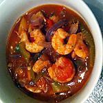 recette Soupe à la tomate, crevettes et poivrons