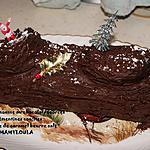 recette Bûche à la mousse au chocolat/écorces de clémentines confites et crème de caramel beurre salé
