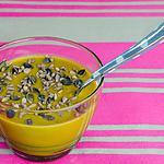 recette Soupe de petits pois aux saucisses fumées