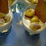 recette verrines a la bananes fromage blanc